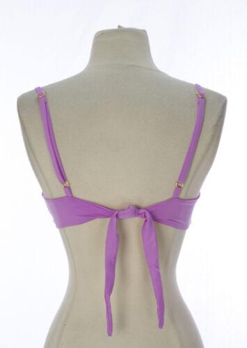 ZINKE Women/'s Pastel Orchid Izzy Triangle Bikini Top $79 NEW