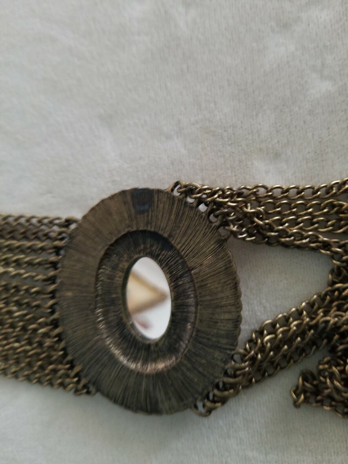 Multi Chain Large Rhinestone Necklace  - image 4