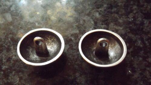 Nuevo Pequeño Mediano Grande Estaño Plata Metal el regimiento de los botones de caña westriding