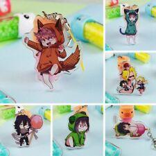 Anime Boku No My Hero Academia Keychain Acrylic Pendant Metal Keyring Cxz #mi