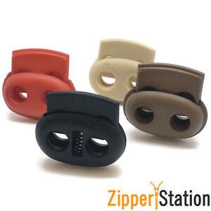Cerradura-de-doble-Tapon-de-cable-final-alterna-con-resorte-de-metal-9-Colores-Inc-Negro-y-Rojo