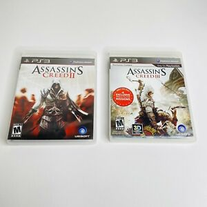 Assassin-039-s-Creed-II-2-amp-III-3-Playstation-3-PS3-Complete-CIB-TESTED-WORKS-Lot-2