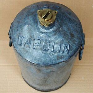 Benzin & Tankstelle WunderschöNen Dapolin D.a.p.g Antike Benzin Kanne Hamburg ~ 1910 Petroleum Tankstelle Auto Rar 100% Hochwertige Materialien