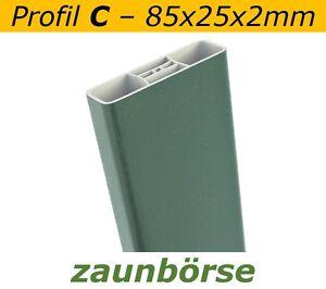 Musterstueck-Zaunlatte-C-85x25x2mm-034-moosgruen-034-Profiware-Gartenzaun-Staketen