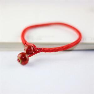 45dc1a66a5 La imagen se está cargando Tejer-a-Mano-Cuerda-Roja-Pulseras-Moda-Mujer-