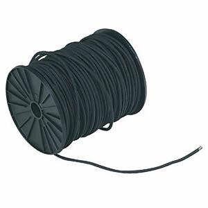 Bobine 10 mètres Sandow / élastique diam. 6mm noir - Plastimo - gaine polyester