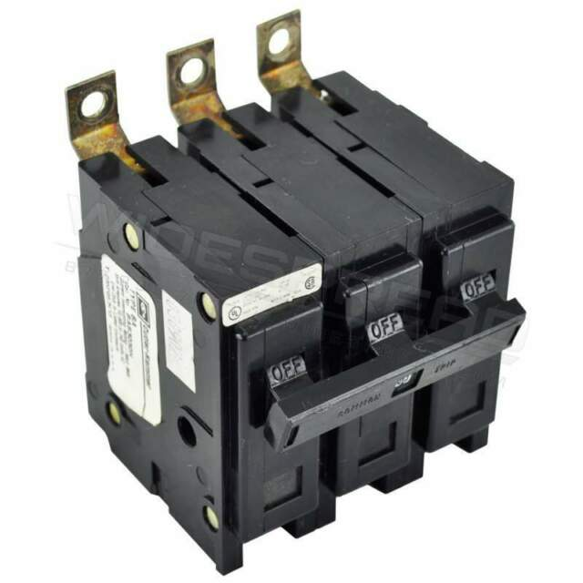 Eaton BAB3060HS Bolt-On Mount Type BAB Industrial Miniature Circuit Breaker With Shunt Trip 3-Pole 60 Amp 240 Volt AC Quicklag