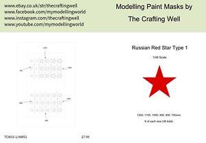 DernièRe Collection De Scale Modeler Peinture Masque Sets-russe étoiles De Type 1-afficher Le Titre D'origine