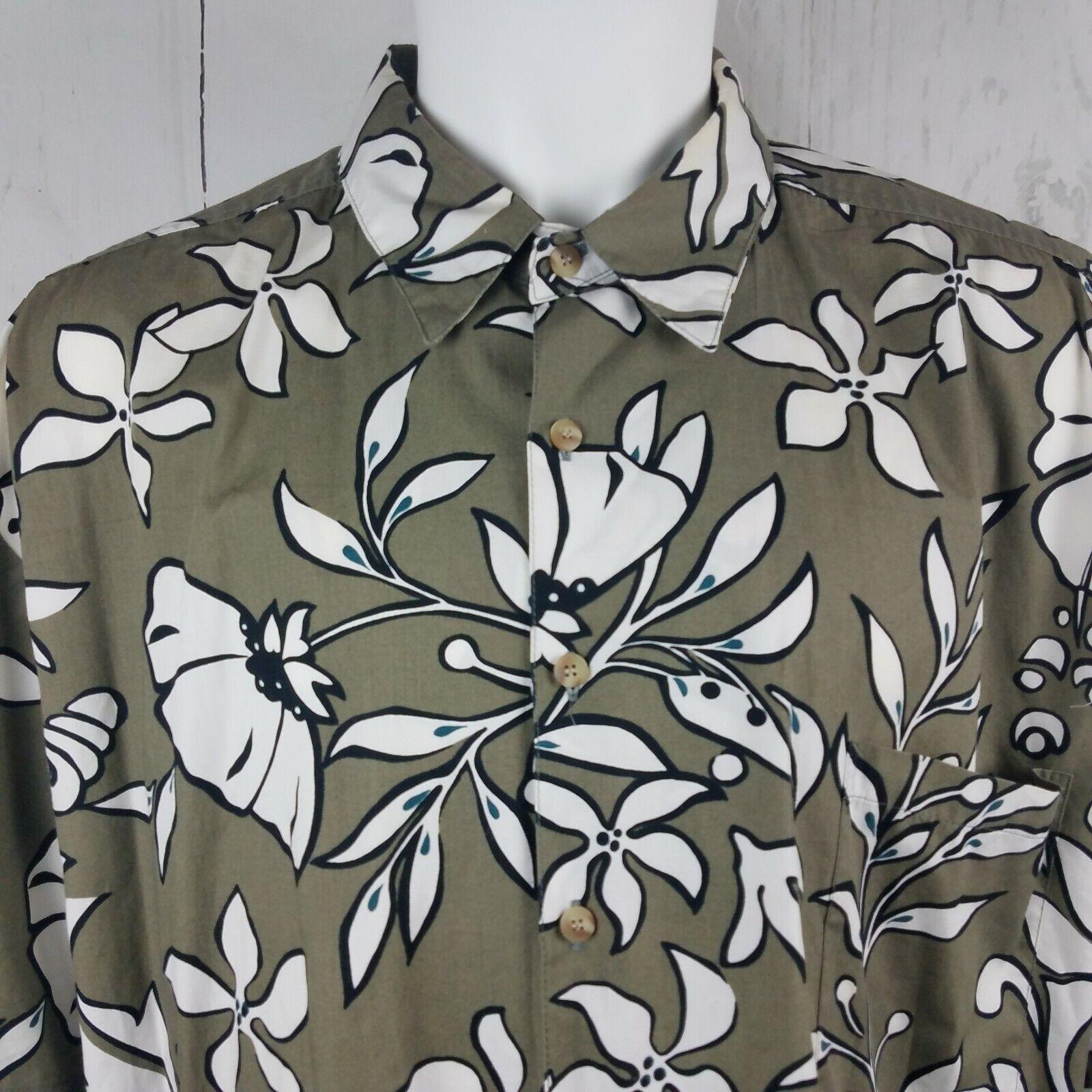 Vintage Mens Kahala Hawaiian Short Sleeve Shirt XXL 100% Cotton Floral Print USA