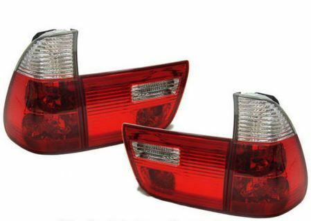 BMW X5 E53 1999-2003 RED /& CLEAR JEWEL STYLE REAR TAIL LIGHTS LAMPS PAIR