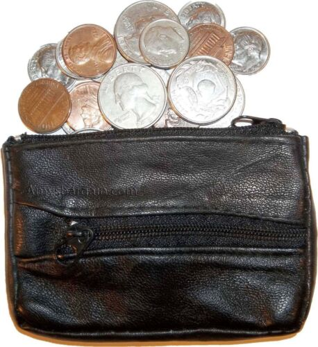 leather coin case Lot of 3.Change purse Little case w// key ring New in package