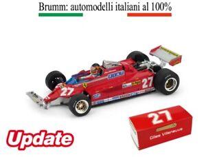 FERRARI 126CK Turbo Canada 1981 39-54 Giro Villeneuve Brumm 1/43 R436-CH Update
