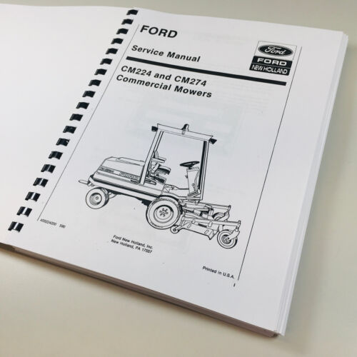 FORD NEW HOLLAND CM224 CM274 COMMERCIAL MOWER SERVICE REPAIR MANUAL FRONT MOWER