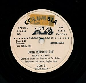 GENE-AUTRY-on-1951-Columbia-39217-Promo-Bunny-Roundup-Time-Sonny-the-Bunny