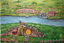 Indexbild 1 - Shire Hobbit village. The Lord of the Rings. Oil canvas.impressionism tolkien