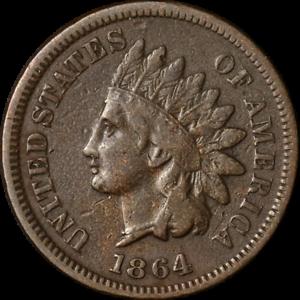 1864-039-L-039-Indian-Cent-Nice-F-VF-Key-Date-Nice-Eye-Appeal-Nice-Strike