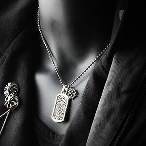 01f13030980f1 Image is loading Guntwo-Korean-Mens-Fashion-Necklaces-Biker-Hip-Hop-