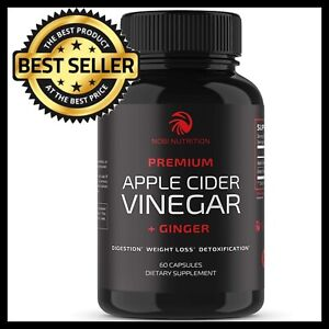 Apple Cider Vinegar Capsules With Ginger For Detox Weight Loss Fat Burn Cleanse