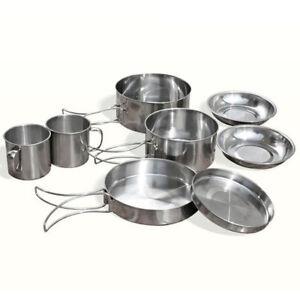 9-Pcs-Stainless-Steel-Camping-Cookware-Cooking-Picnic-Bowl-Pot-Pan-Set-Outdoor