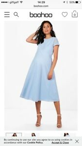 36066ac8766 Image is loading Boohoo-Womens-Maternity-Boutique-Bluebell-Full-Skirted-Prom -