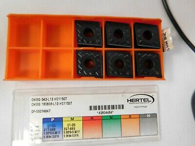10 Pcs HERTEL Carbide Turning Inserts DNMA 432 HC310T