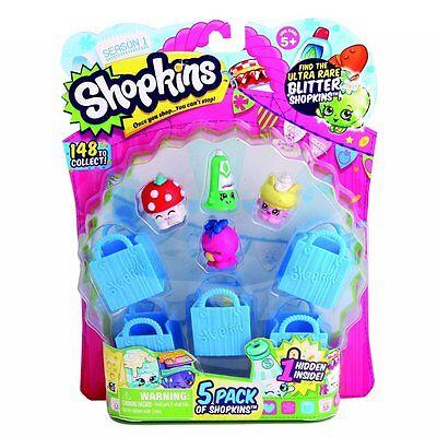 New SHOPKINS 5 Pack 1 Hidden Blind Bags Rare Glitter? Kid Gift