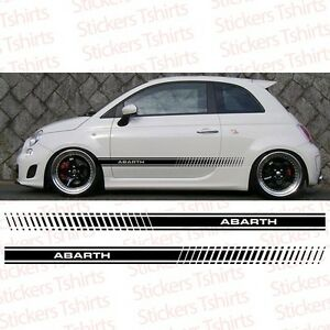 Image Is Loading Fiat Abarth 500 One Side Racing 1 Stripe