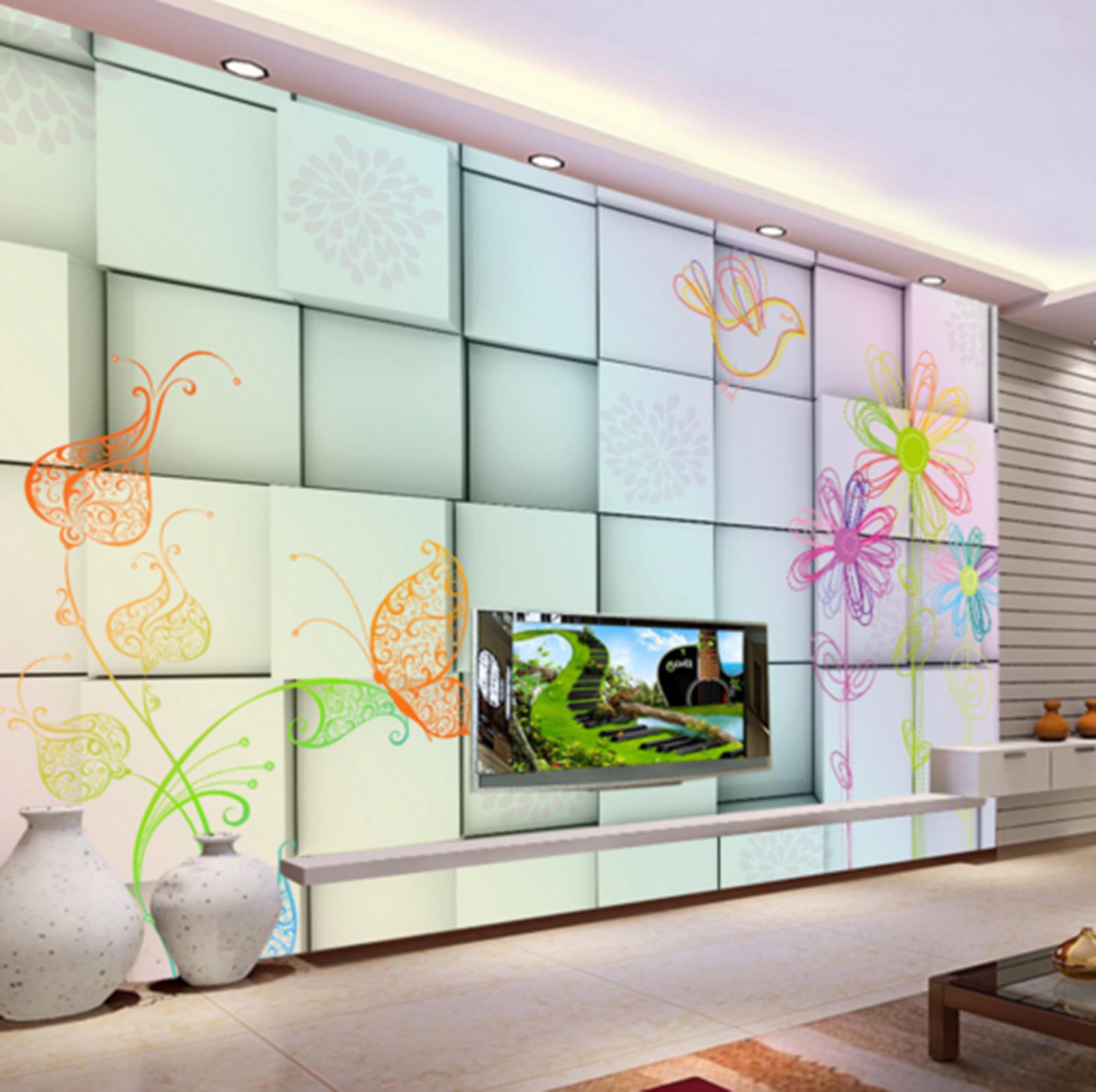 3D MulticoloROT 61 Wallpaper Murals Wall Print Wallpaper Mural AJ WALL UK Kyra