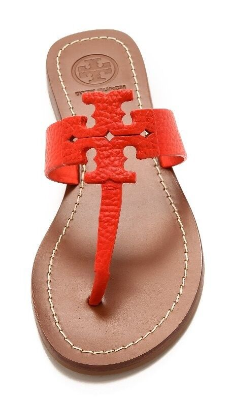 TORY Burch 2 Tong Poppy Coral Moore Sandali Bassi
