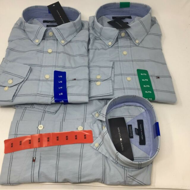 XL Skyway XXL New Tommy Hilfiger Men/'s Classic Fit Long Sleeve Button Down