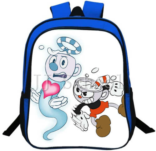 Cuphead School Bag Kids Backpack Boys Travel Rucksack Student Books Bag Gifts