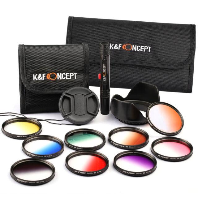 58MM Graduated Color Filter Kit for Canon EOS 1100D 1200D 650D 700D 18-55mm Lens