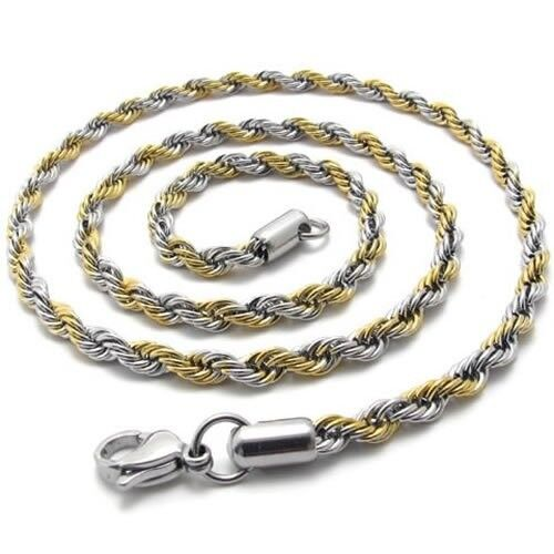 """3mm 4mm 5mm 6mm 16/""""-40/"""" Silver Stainless Steel Wheat Braided Necklace Chain HN18"""