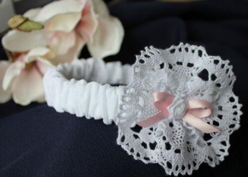 Taufe Blumenmädchen SWAROVSKI Stirnband Taufkleid