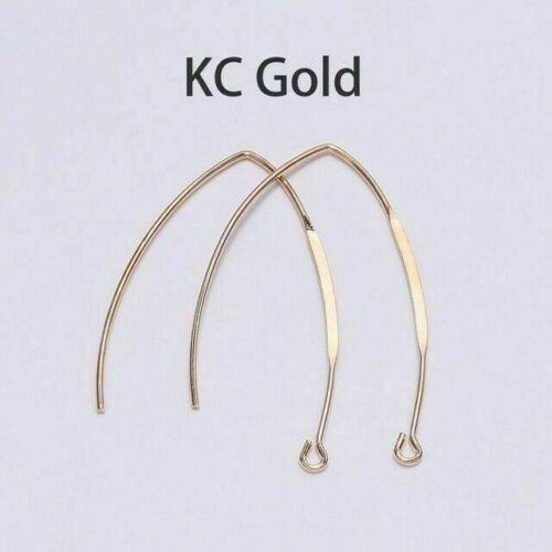 20Pcs French V-shaped Earring Hooks Ear Hook Wire Settings Base Jewelry Making F