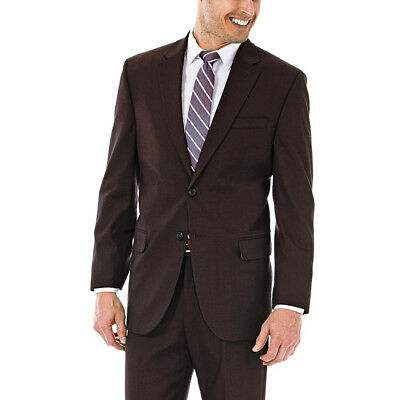 New JM Haggar Men/'s Premium Classic Fit Stretch Suit Jacket Chocolate Size 44,46
