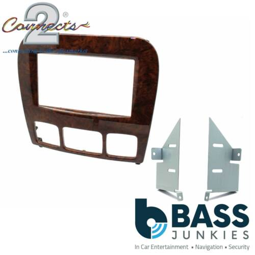 Mercedes Benz S Class W220 1998-05 Car Stereo Radio Double DIN Wood Finish Facia