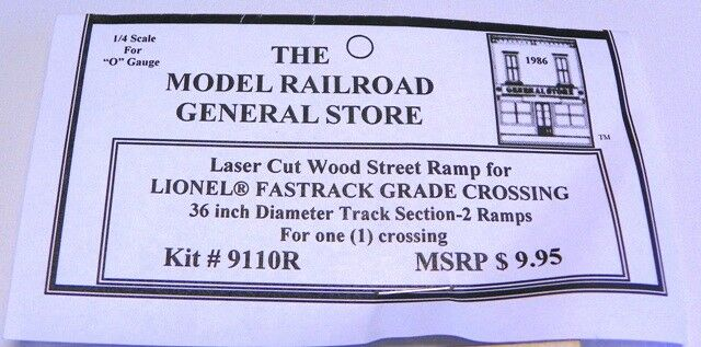 Railroad Grade Crossing Ramp for Lionel O FasTrack 3-rail 31