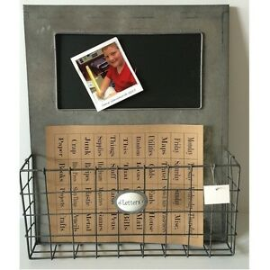 Metal Wall File industrial metal single wall file pocket organizer chalkboard