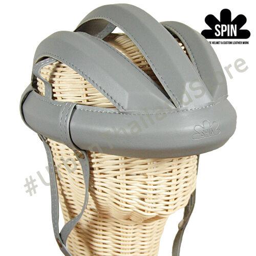 Vintage Cycling Bicycle Helmet Adult L'eroica  Retro Commuter Classic Hat Grey  unique shape