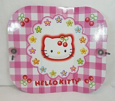 RARE Vtg 1999 Sanrio HELLO KITTY CHERRY Pink Auto SUNSHADE 52-124cm Japan NEW