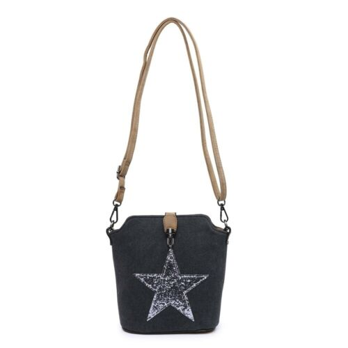 red yellow Shoulder Bag orange Gray Messenger Black Star Fashio navy Shining Canvas Body Ladies grey Womans d green Small Cross beige zZawqFY