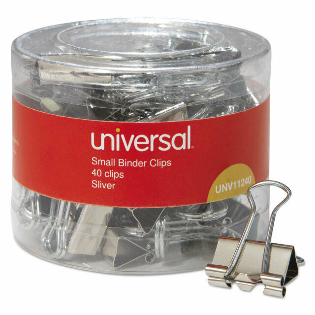 """3//8/"""" Capacity 3//4/"""" Wide, Universal Office Products 11240 Small Binder Clips"""