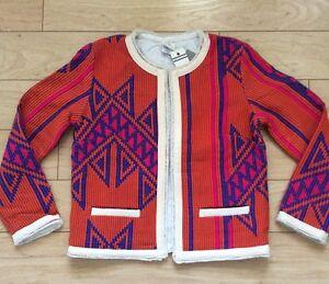 Jacket Size Hartford Anthropologie Tag Nazlini Nw 4 Motif Orange xZZ5nzEHwq