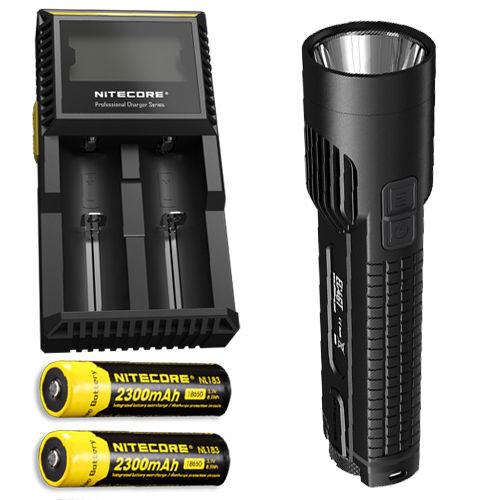 Nitecore EC4GT XP-L XP-L XP-L Hi LED Flashlight -1000Lm w/2x NL183 Battery & D2 Charger f5d6d9