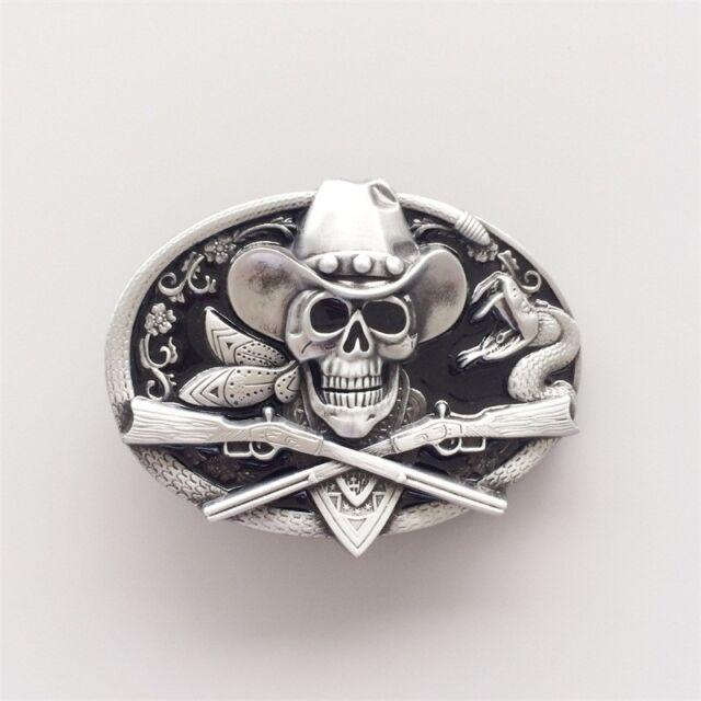 Harley-Davidson Women/'s Vida Skull Belt Buckle Polished Silver HDWBU11503