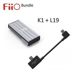 FiiO-K1-Portable-USB-Headphone-Amplifier-DAC-L19-Lightning-to-microUSB-BUNDLE