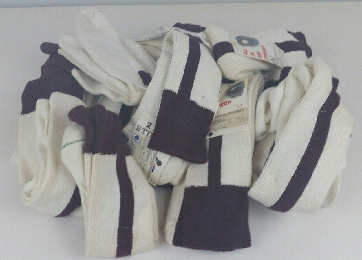 16 par de colección   años 90 Twin City béisbol 2 en 1 Tamaños Estribo Calcetines Granate múltiples  Ahorre 35% - 70% de descuento