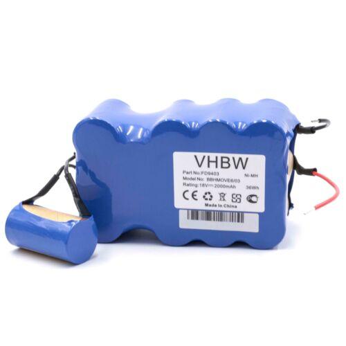 Batterie 2000mAh pour Bosch BBHMove6 BBHMOVE4 BBHMOVE6//03