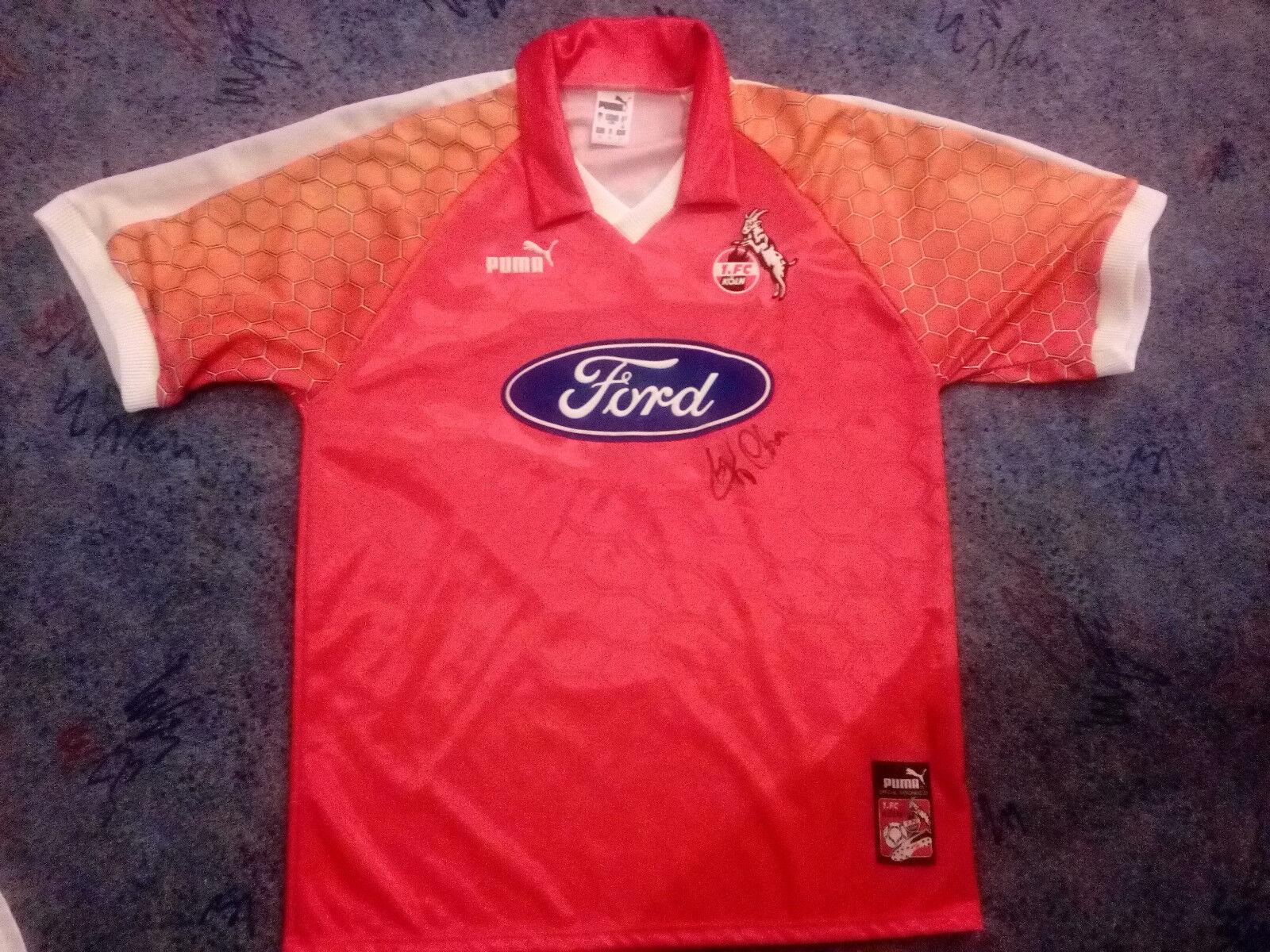 1. FC FC FC Köln Trikot Rarität Ford Gr.L Saison 1997 1998 Toni Polster Autogramm NEU 726296